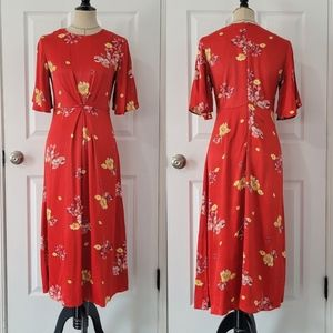 Monsoon Floral Red Dress